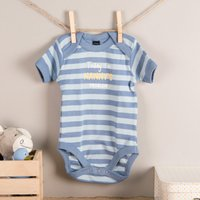 Personalised Striped Baby Onesie - Today Im...
