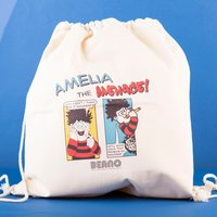 Personalised Beano Classic Drawstring Bag - Problem Solved - Beano Gifts