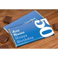 Personalised Chocolate Bar - 50th Birthday for Him - 50th Gifts