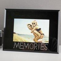 Personalised 'Memories' Black Photo Frame - Memories Gifts