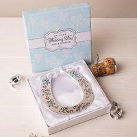 Love & Cherish Silver-Plated Wedding Horse Shoe