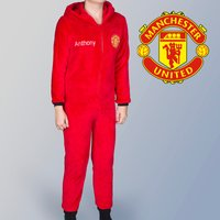 Personalised Kids' Manchester United Onesie - Manchester Gifts