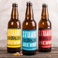 Personalised Set Of Three Beers - Beer Lovers Are Hop - Beer Gifts
