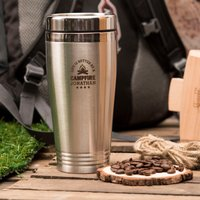 Personalised Travel Vacuum Flask - Better By The Campfire - Flask Gifts