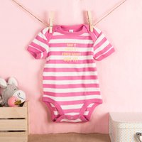 Personalised Striped Baby Onesie - Saw It, Liked It, Got It