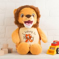 Personalised Cubbies Lion Soft Toy