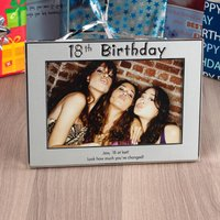 Personalised '18th Birthday' Silver Photo Frame