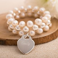 Personalised Double Freshwater Pearl Bracelet