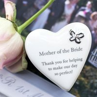 Porcelain Heart Trinket Box Mother of the Bride