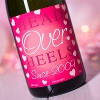 Luxury Personalised Champagne - Head Over Heels - Heels Gifts