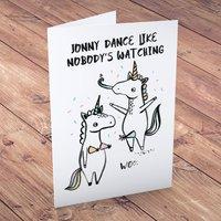 Personalised Card - Banter Pants, Unicorns - Unicorns Gifts