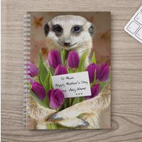 Personalised Notebook - Mother's Day Meerkat