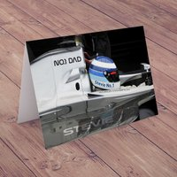 Personalised Card - No.1 Dad - Formula One - Formula 1 Gifts