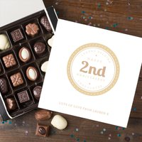 Personalised Belgian Chocolates - 2nd Anniversary - Chocolates Gifts