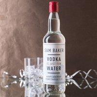 Personalised Vodka - Fun Water - Fun Gifts