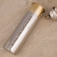 Personalised Stainless Steel Gun Cartridge Hip Flask - Gun Gifts