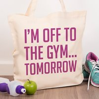 Personalised Tote Bag - To The Gym