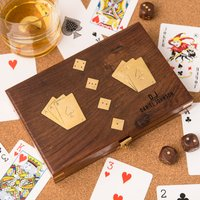 Personalised Harvey Makin Wooden Games Set - Games Gifts