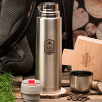 Engraved Stainless Steel Vacuum Flask - Travel Flask - Flask Gifts