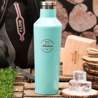 Personalised Corkcicle® Turquoise Canteen - Let The Adventure Begin - Turquoise Gifts