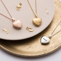 Personalised Posh Totty Designs Heart Locket - Posh Gifts
