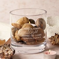 Personalised Glass Candle Holder - There Is Always Light - Candle Gifts