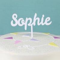 Personalised Lisa Angel Handmade Name Acrylic Cake Topper - Angel Gifts