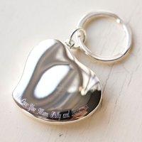 Engraved Photo Heart Locket Key Ring - Key Ring Gifts