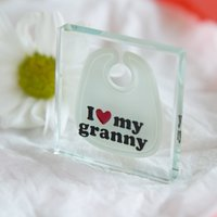 Spaceform Mini Glass Token - I Love My Granny Bib