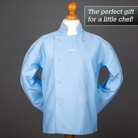 Personalised Boy's Blue Chef's Jacket - Chef Gifts