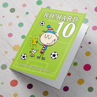 Personalised Card - Birthday Football Fan - Football Gifts
