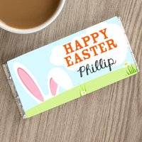 Personalised Chocolate Bar - Happy Easter and Bunny Ears