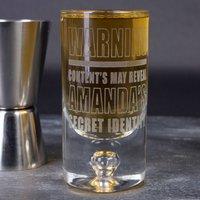Personalised Shot Glass - Secret Identity - Shot Glass Gifts
