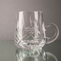 Personalised Glass Christening Cup
