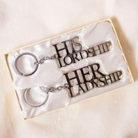 His Lordship & Her Ladyship - Set Of Two Silver-Plated Keyrings - Keyrings Gifts