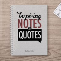 Personalised Notebook - Inspiring Notes And Quotes - Quotes Gifts