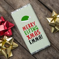 Personalised Chocolate Bar - Elfing Xmas - Xmas Gifts