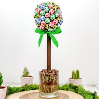 Personalised Chocolate Football Sweet Tree - Football Gifts