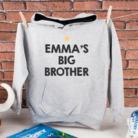 Personalised Kid's Hoodie - Big Brother - Brother Gifts