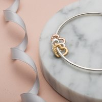 Personalised Posh Totty Designs Heart Bangle - Posh Gifts