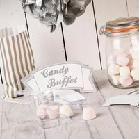 Vintage Lace Silver Candy Bar Package - Candy Gifts