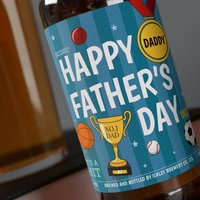 Personalised Beer - Happy Fathers Day Sports