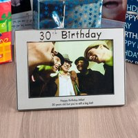 Personalised '30th Birthday' Silver Photo Frame - 30th Gifts