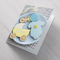 Personalised Card - Baby Boy Cookies - Cookies Gifts