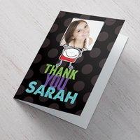 Photo Upload Card - Thank You Cartoon - Cartoon Gifts