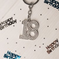 Crystal Key Ring - 18th Birthday