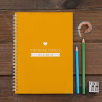 Personalised Notebook - Family Date - Colour Option - Colour Gifts