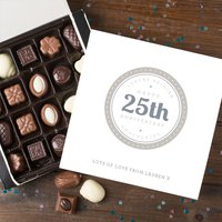 Personalised Belgian Chocolates - 25th Anniversary - Wedding Anniversary Gifts