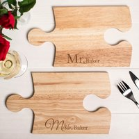 Personalised Jigsaw Placemats - Mr & Mrs - Jigsaw Gifts
