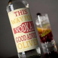 Personalised Vodka - Good Advice - Vodka Gifts